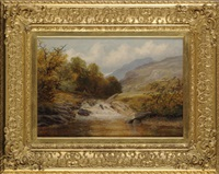 a mountain stream, near doowdelln [sic], north wales by george vicat cole